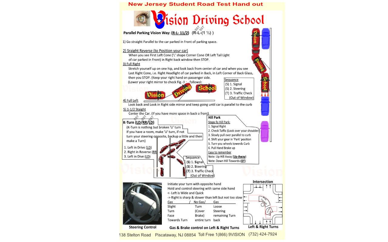 Article-4: Student Hand out for NJ Road Test